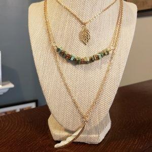 Artisan Magnesite Layered Necklace